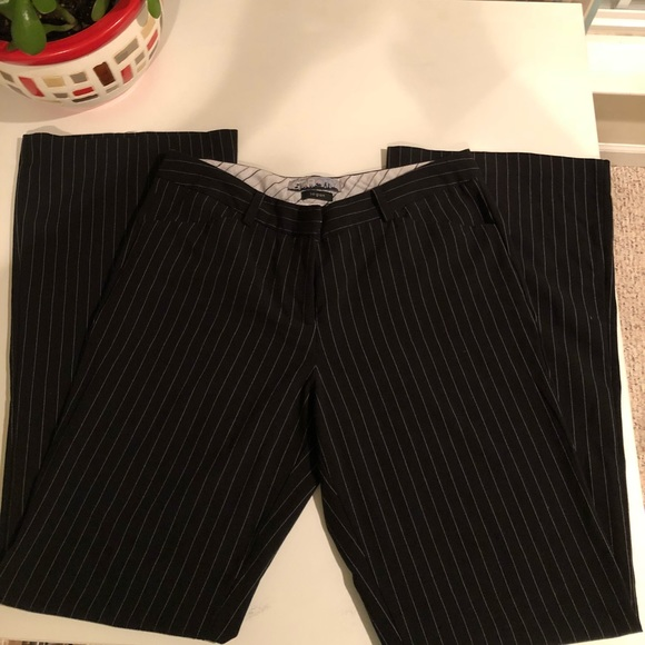 Pants - Black and White Stripe Trousers